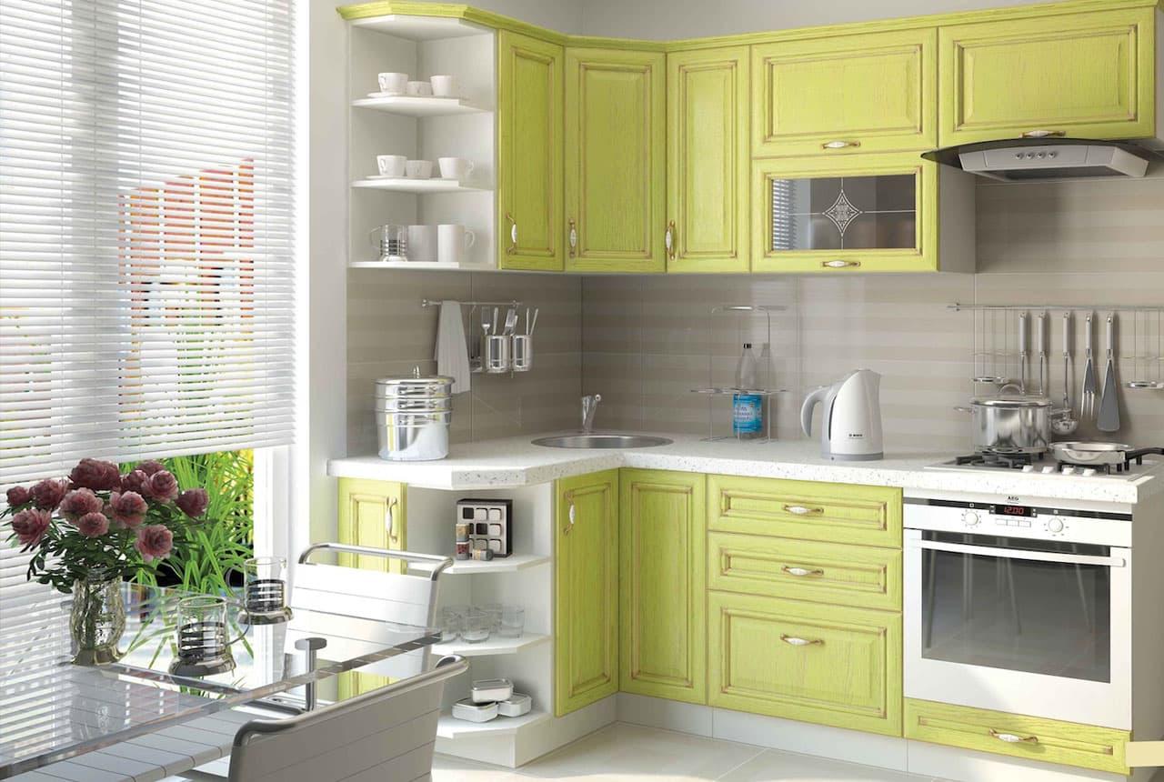 Дизайн угловой кухни 2017: свежие новинки года