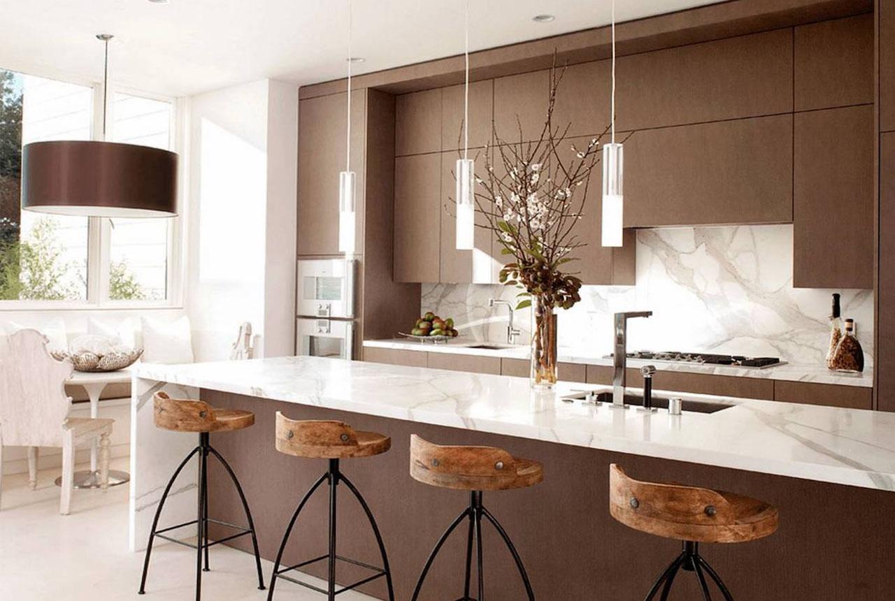 Mostradores de barra para la cocina: ejemplos de fotos 50
