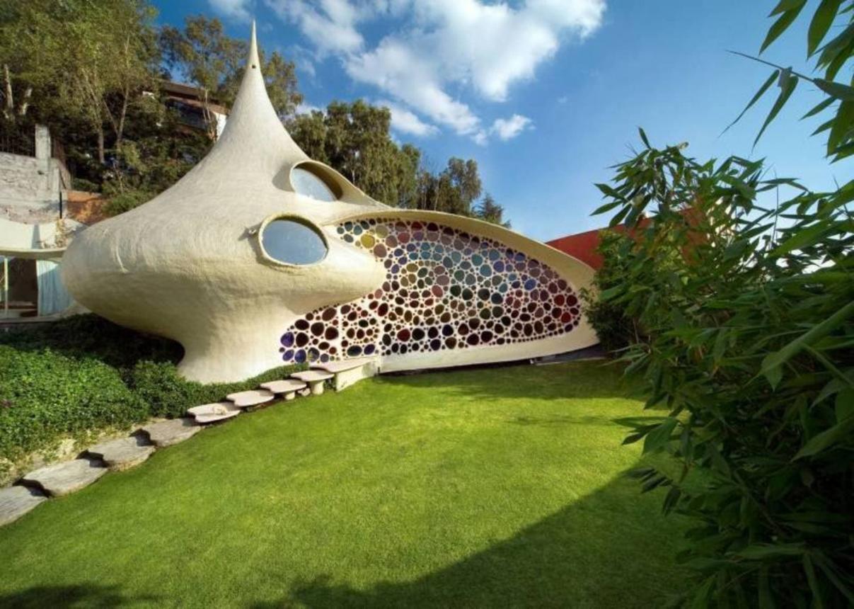 Шедевр биоархитектуры: Дом Наутилус в Мексике