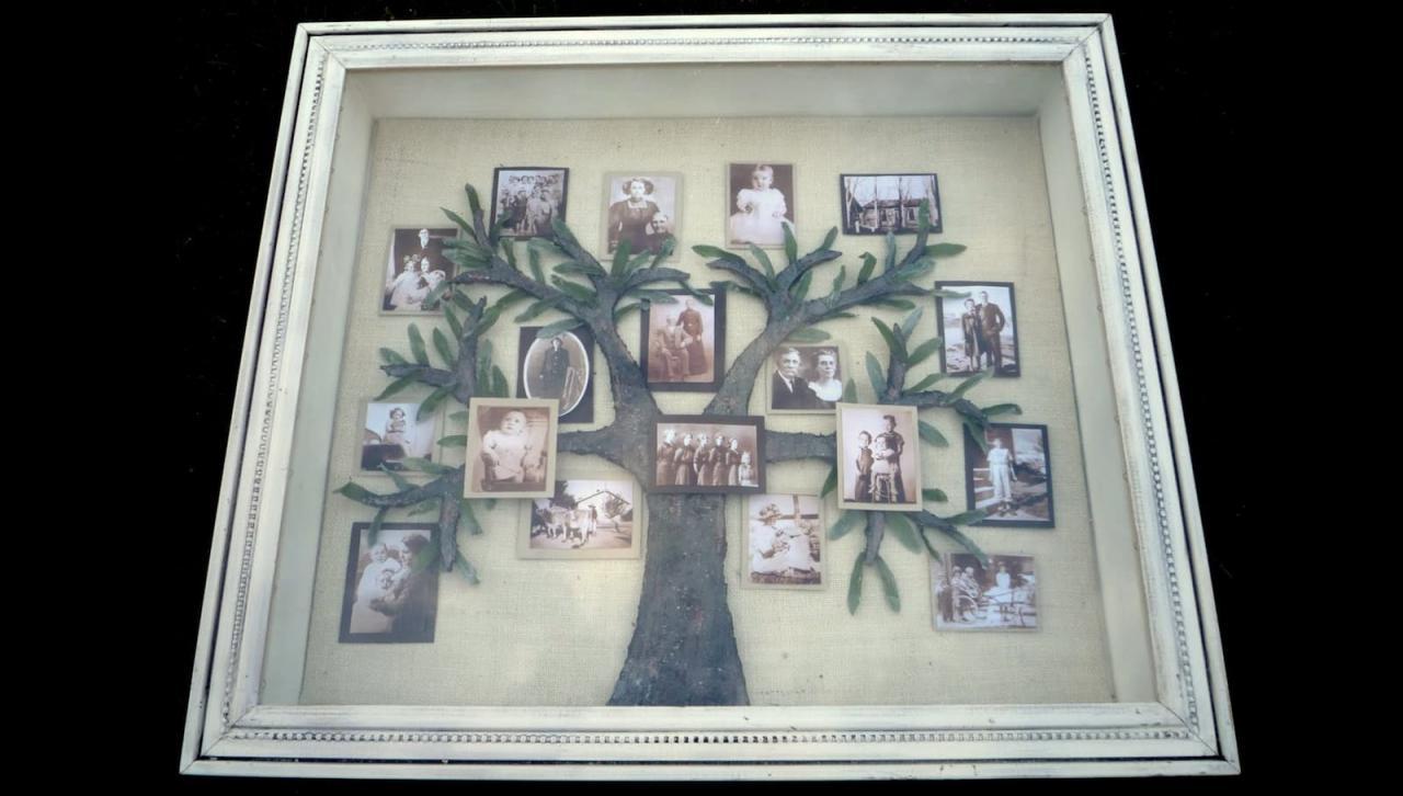 Вау-эффект: семейное фотодерево своими руками