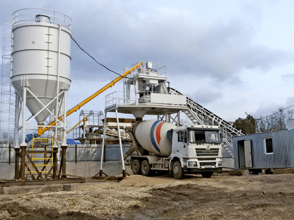 Мобильные бетонные заводы: плюсы и конструкция