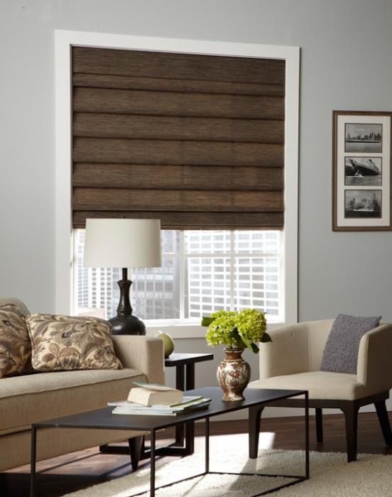 Деревянные рулонные шторы – фото 1