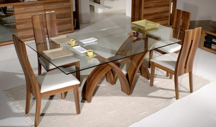 Стеклянные столы – фото 4