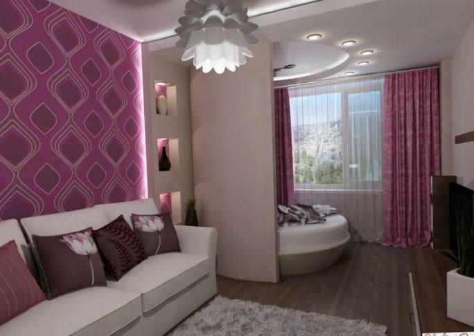 Спальня, объединенная с балконом или лоджией - фото