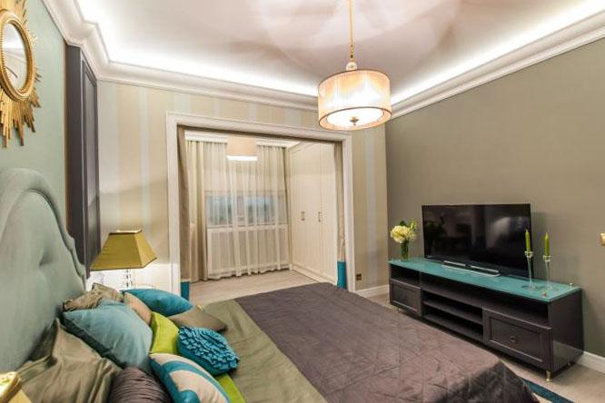 Спальня, объединенная с балконом или лоджией