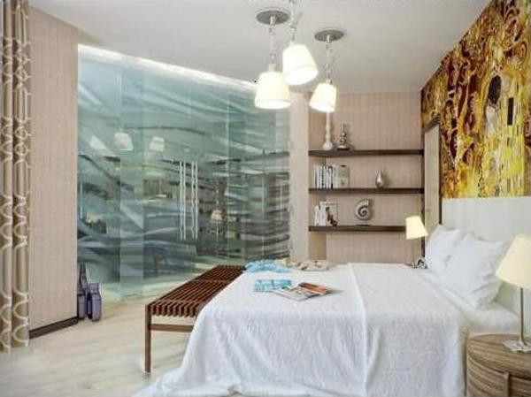 Особенности дизайна маленькой спальни без окон 2