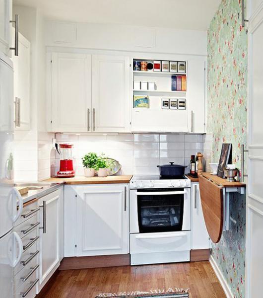Кухонные столы для маленькой кухни – фото 2