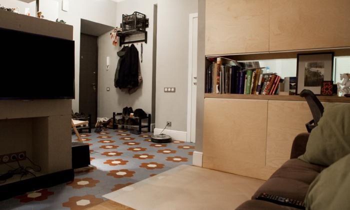 Обои в однокомнатной квартире дизайнерские идеи
