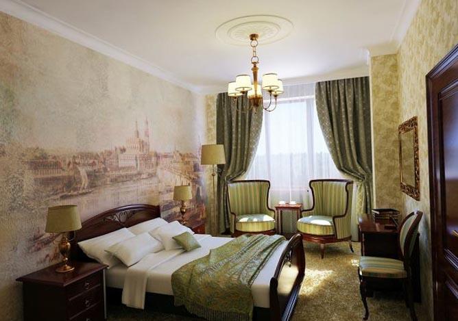 Классическая спальня - фото