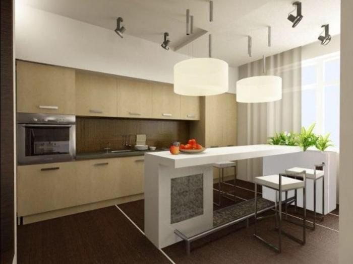 Барная стойка в дизайне кухни