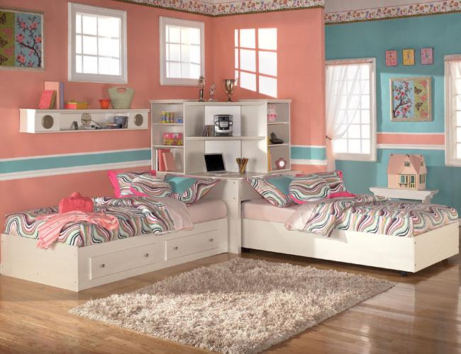 Как сделать интерьер комнаты для двух девочек 6