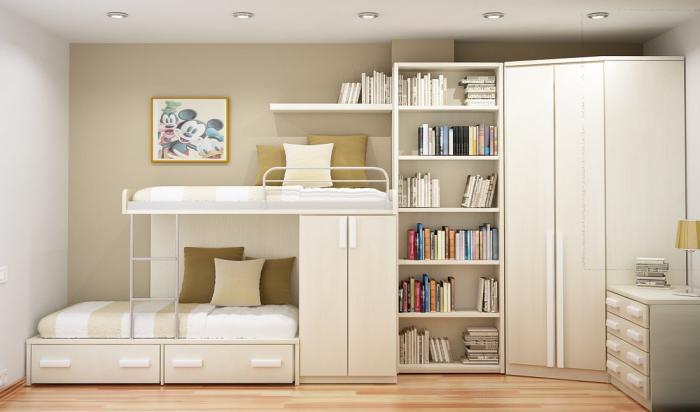 Как сделать интерьер комнаты для двух девочек 7