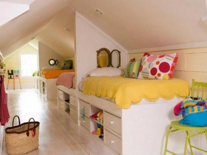 Как расставить кровати в детской