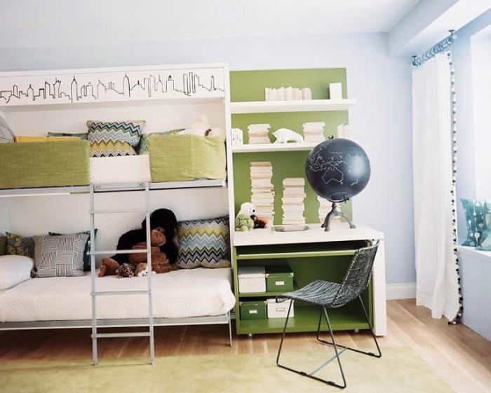 Как расставить кровати в детской 4