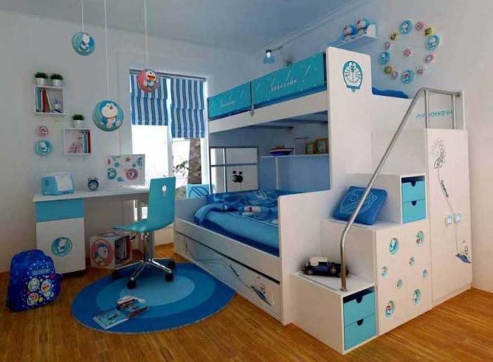 Дизайн детской комнаты для двоих детей 11