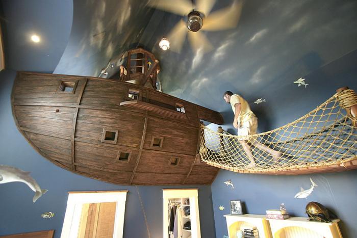 Комната для мальчика, морской стиль