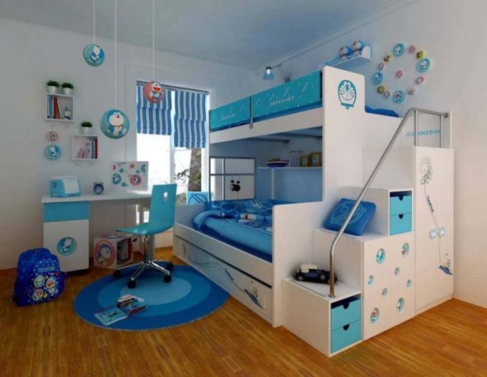 Дизайн спальни для девочки и мальчика фото