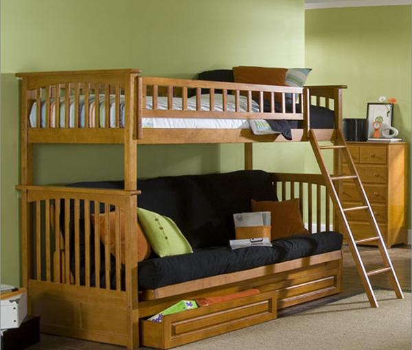 Детская кровать с встроенным диваном - 2