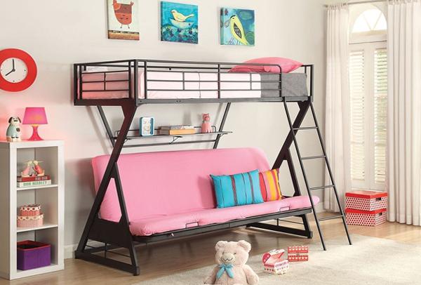 Детская кровать с встроенным диваном - 3
