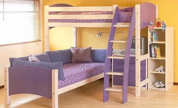Детская кровать с встроенным диваном - 4
