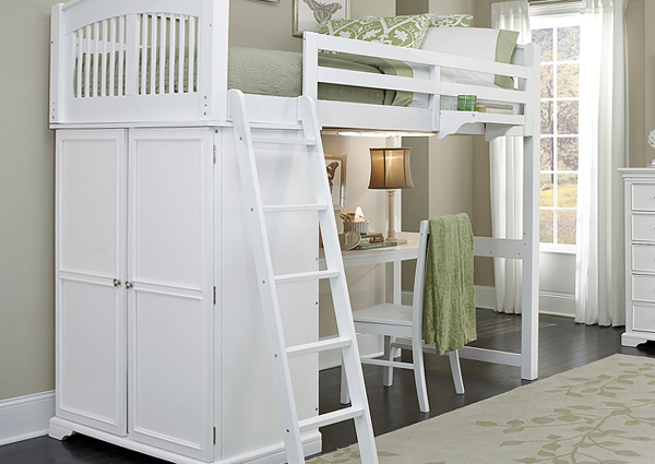 Детская кровать с встроенным шкафом - 2