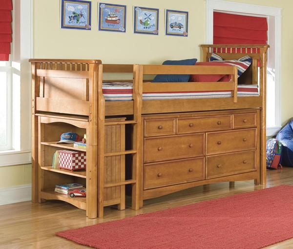 Детская кровать с встроенным шкафом - 5