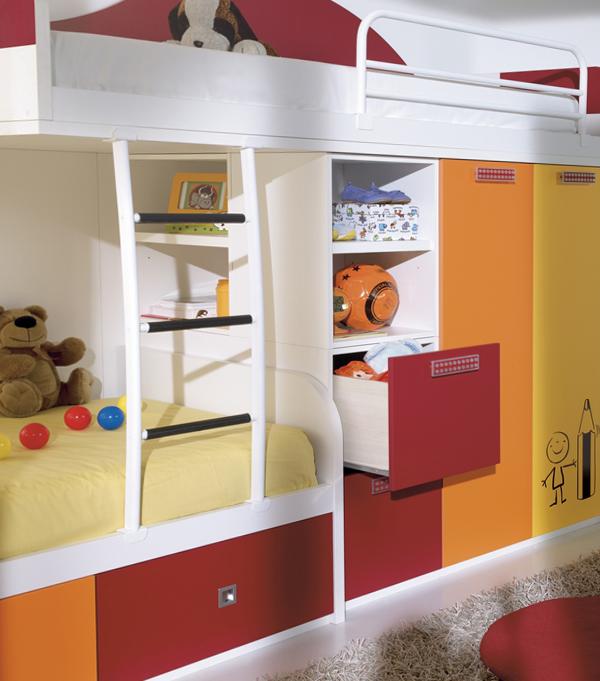 Детская кровать с встроенным шкафом - 6