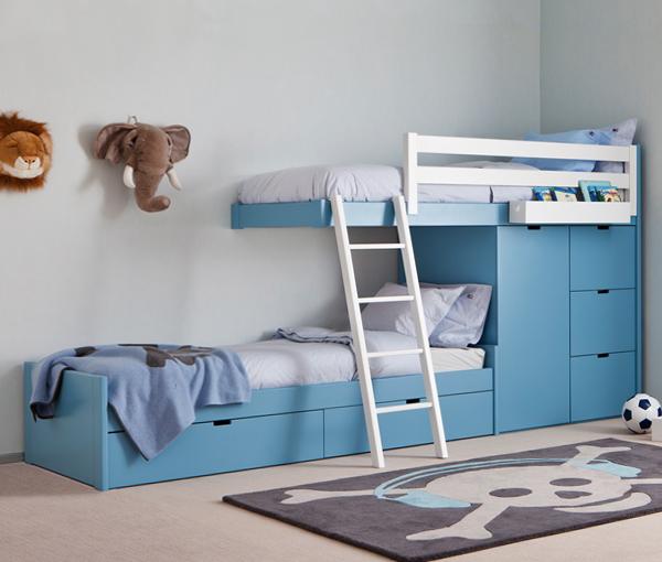 Детская кровать с встроенным шкафом - 7