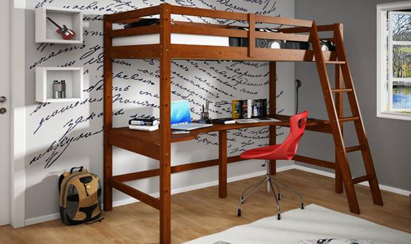 Двухъярусная кровать с письменным столом - 3