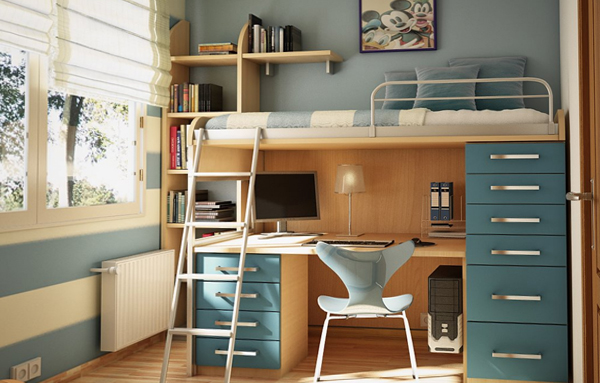 Двухъярусная кровать с письменным столом - 4