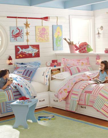 Варианты планировки детской для разнополых детей 3