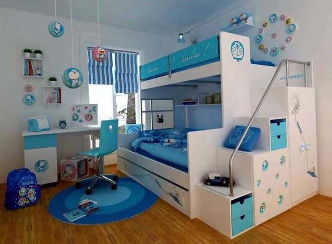 Варианты планировки детской для разнополых детей 8
