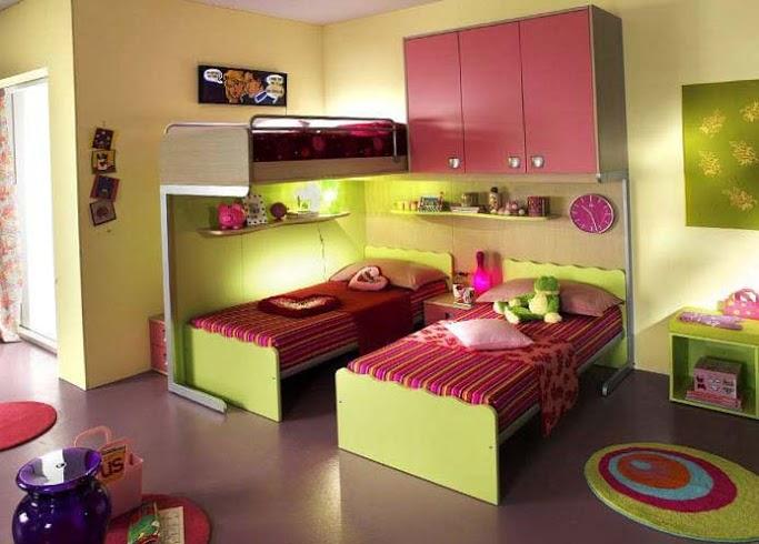 Варианты планировки детской для разнополых детей 10