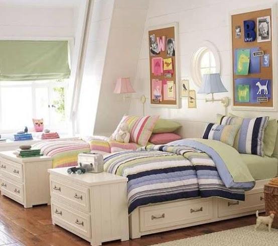 Зонирование комнаты при помощи разных цветовых схем 6