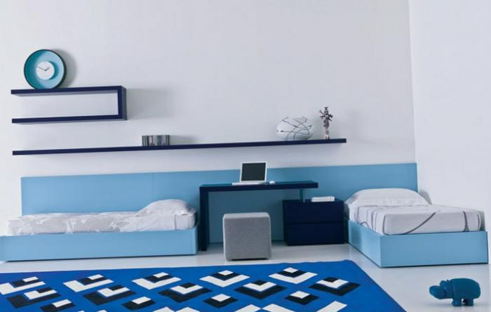 Зонирование комнаты при помощи разных цветовых схем 11