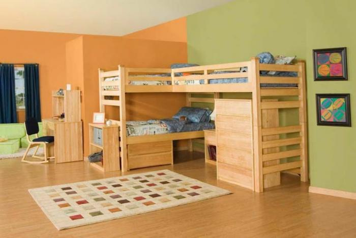 Зонирование комнаты при помощи разных цветовых схем 13