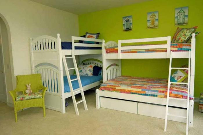 Зонирование комнаты при помощи разных цветовых схем 14