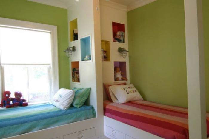 Зонирование комнаты при помощи разных цветовых схем 15