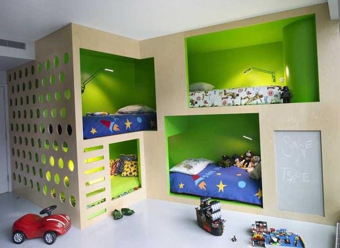 Зонирование комнаты при помощи разных цветовых схем 16