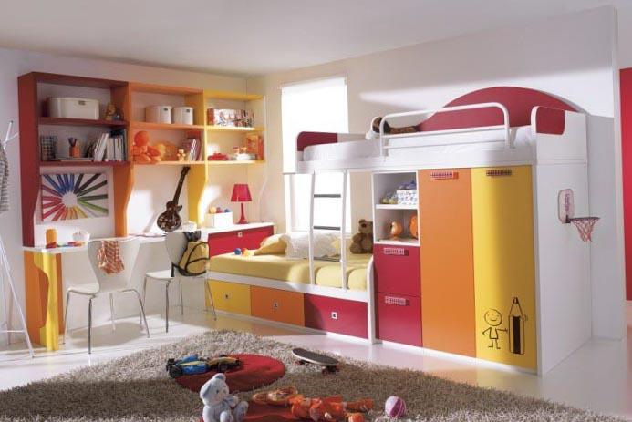 Зонирование комнаты при помощи разных цветовых схем