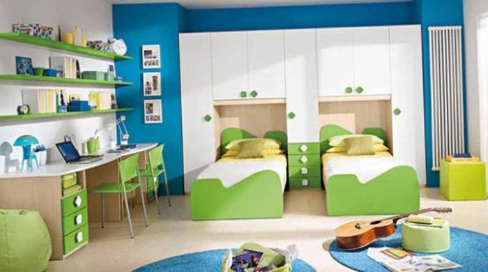 Варианты планировки детской для разнополых детей 13