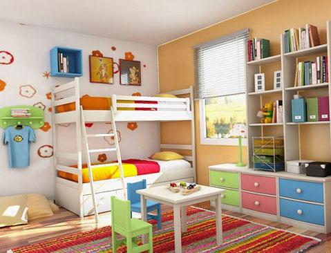 Варианты планировки детской для разнополых детей 1