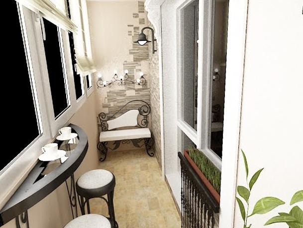 Интерьер балкона - 5