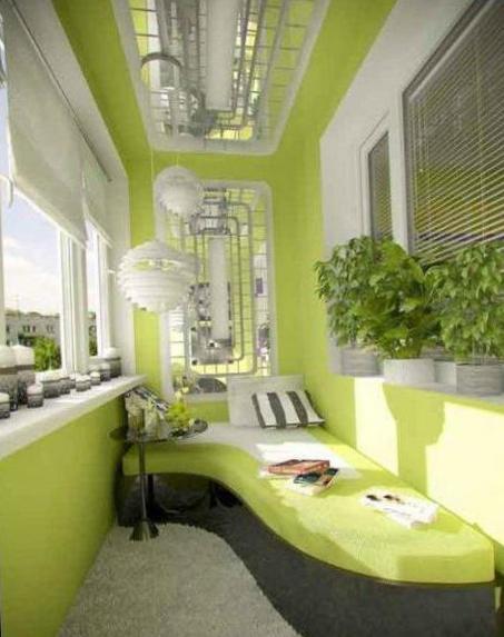 фото интерьер на балконе