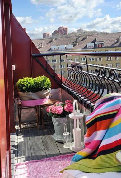 Дизайн балкона маленького размера