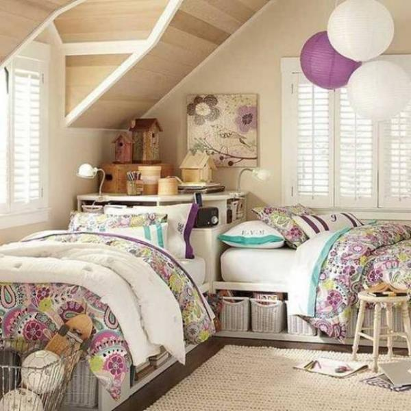 Дизайн комнаты для двух девочек 2