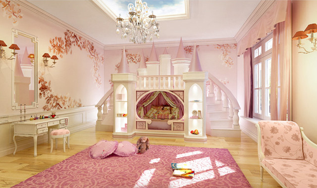 Дизайн детской для большой комнаты