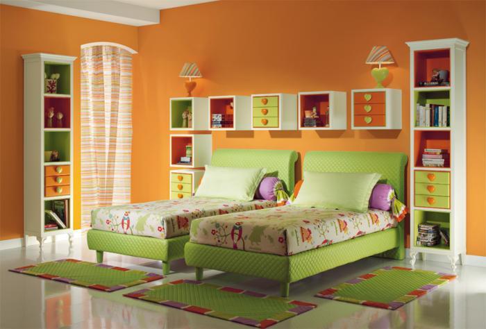 Как сделать интерьер комнаты для двух девочек 5