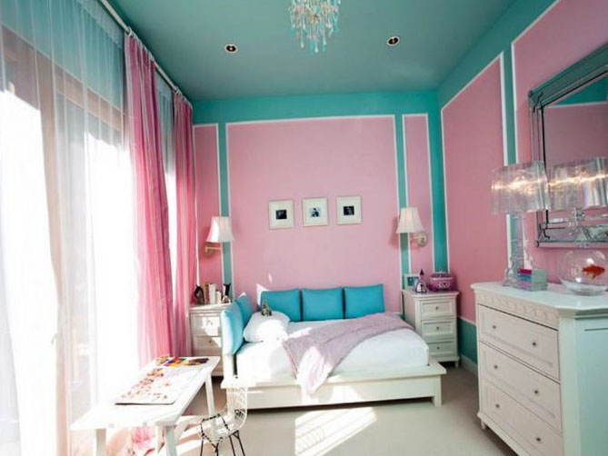 Интерьер комнаты для девочки-подростка 7