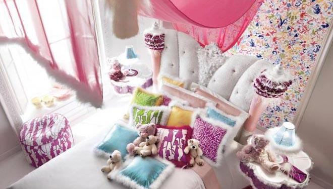 Детская спальня для девочки - интерьер 6